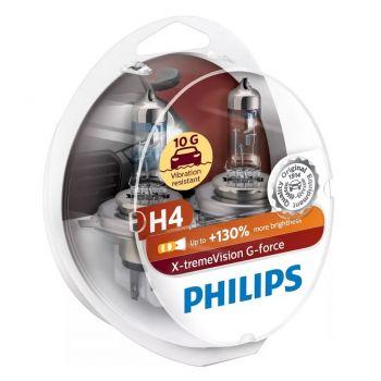 H4 X-tremeVision G-force +130% sada 2ks Philips