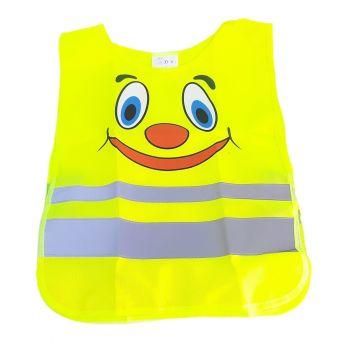 Reflexná detská vesta žltá